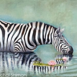 Zebra In The Lake
