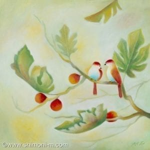 Birds On a Fig Branch 2